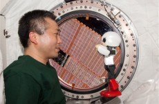 Japanese robot chats with astronaut on space station