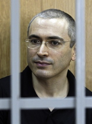 Mikhail Khodorkovsky in a Moscow courtroom in July 2004.
