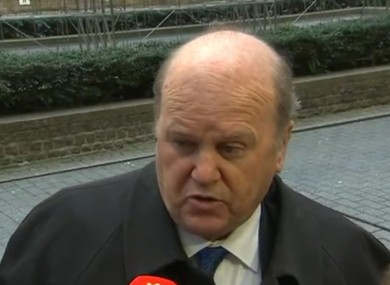 Finance Minister Michael Noonan arrives in Brussels yesterday