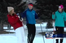 Watch local news reporter pass out then amazingly continue her segment