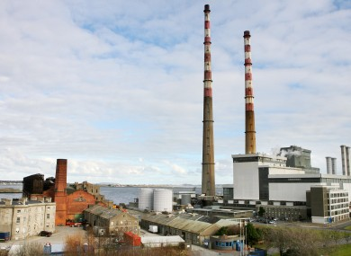 The power station at Poolbeg in Ringsend