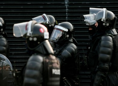 PSNI officers in full riot gear (File photo)