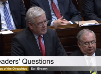Tánaiste Eamon Gilmore in the Dáil this afternoon