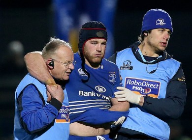 Sean O'Brien cradles his injured arm.