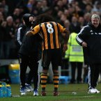 The Hull midfielder had his boss, Steve Bruce, in stitches.<span class=