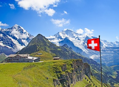 The typical Swiss landscape which inspired the Swiss Psalm anthem.