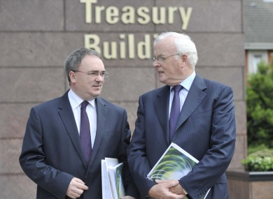 NAMA Chief Executive Brendan McDonagh (left) and Chairman Frank Daly will appear before the Public Accounts Committee today.