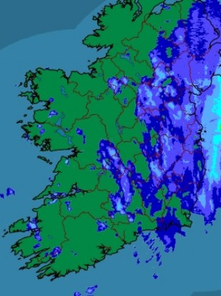 The latest rainfall radar from Met Éireann.