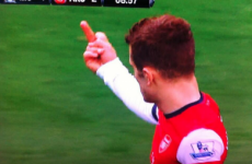 Wilshere handed two-match ban for one-finger salute