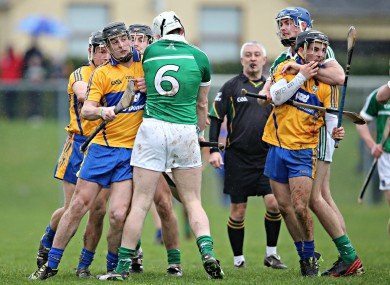 Action from today's Clare and Limerick game.