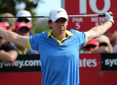 McIlroy had an indifferent 2013.
