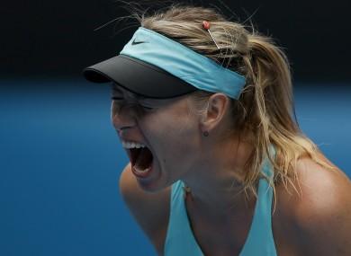 Maraia Sharapova followed Serena Williams out the Australian Open exit door.