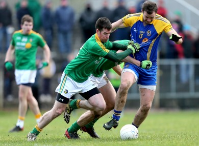Leitrim's Barry Prior and Donal Wrynn and Senan Kilbride of Roscommon.