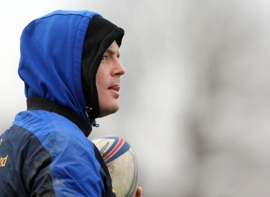 Brian O'Driscoll at Leinster training earlier today.