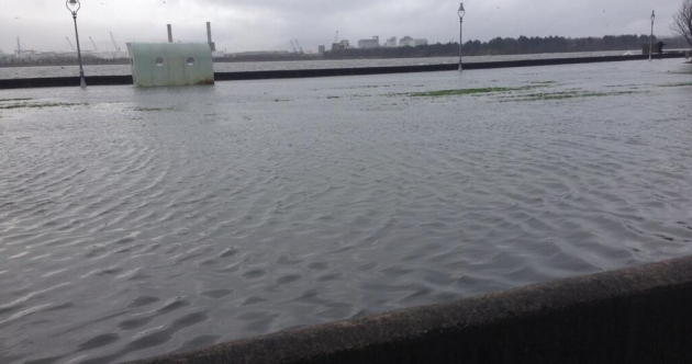 Heavy rain, strong gales and high tides causing flooding and road closures
