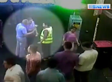 CCTV footage of the 10 November 2013 attack.