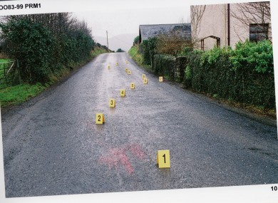 The scene of Collins' murder.