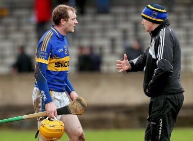 Lar Corbett with Tipperary manager Eamonn O'Shea.