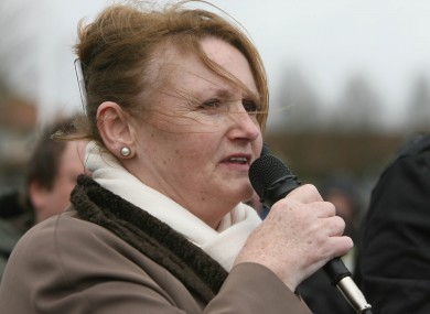 Marian Price a a commemoration ceremony in Derry in 2010.