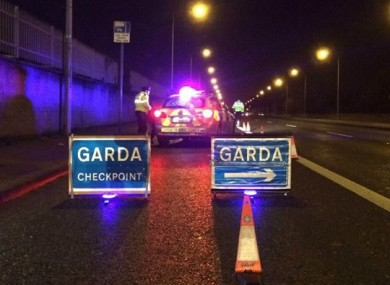File photo of garda checkpoint (not of scene)
