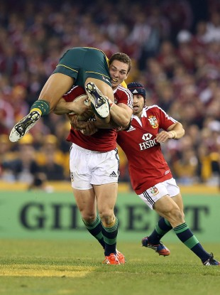 If you want to see George North do this to an All Black in 2017, you'll need Sky.