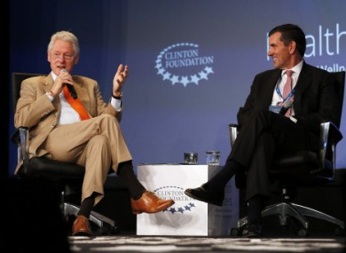 President Bill Clinton speaking yesterday at the Clinton Foundation Health Matters Conference in California.