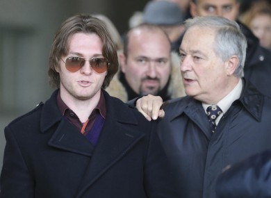 Raffaele Sollecito (left) and his father Francesco