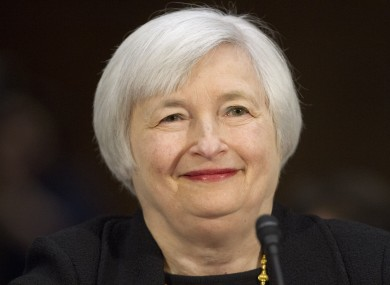 Janet Yellen, the first woman to head the Federal Reserve in its 100-year history.