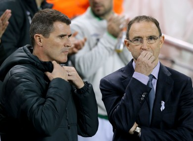Ireland's management team Martin O'Neill (right) and Roy Keane.
