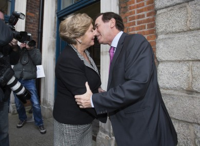 Ministers Frances Fitzgerald and Alan Shatter at Dublin Castle this week