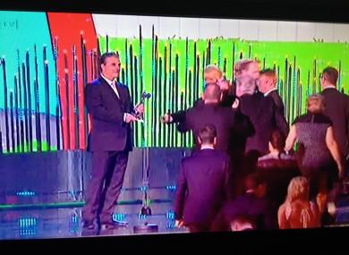 Chris Noth, aka Mr Big, waits to present the award to Brendan O'Carro