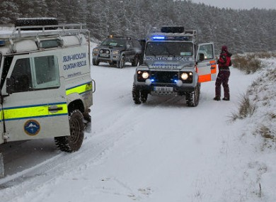 Rescue teams help stranded motorists in Wicklow last February