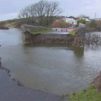 A bridge washed away in Rossmoney near Westport in Co. Mayo