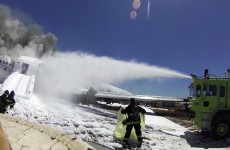 Video shows air crash victim on the runway before she was hit by fire truck