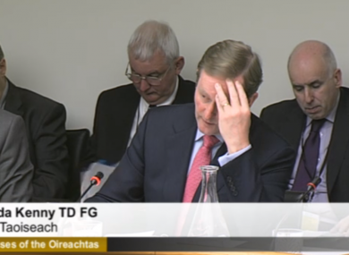 Enda Kenny before the Oireachtas sub-committee examining his department'