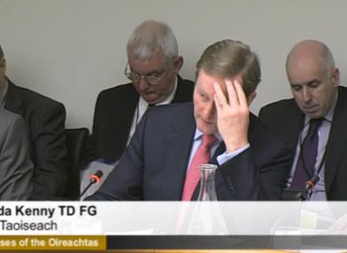 Enda Kenny before the Oireachtas sub-committee examining his de