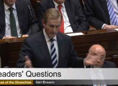 Enda Kenny at Leaders' Questions this afternoon