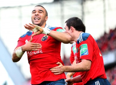 Simon Zebo beat three defenders and made one offload for Munster.