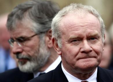 Sinn Fein's Gerry Adams and Martin McGuinness