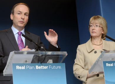 Martin and Hanafin during the 2011 general election where Fianna Fáil lost all but one of their TDs in Dublin.