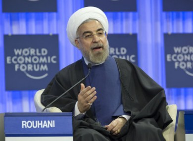 Iranian President Hassan Rouhani during a session of the World Economic Forum