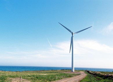 Windfarm at Point in County Wexford.