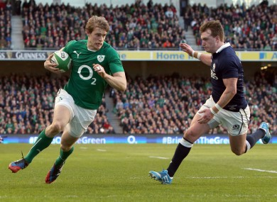 Trimble scored for Ireland on the stroke of half time.