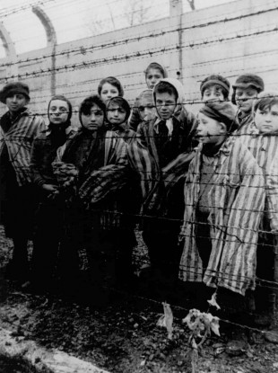 Children liberated from Auschwitz in April 1945