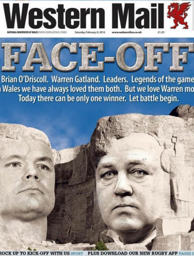 Check out this superb BOD v Gatland front page story from Wales