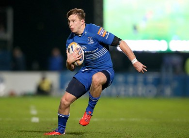Brendan Macken starts at outside centre for Leinster this evening.