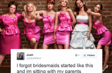 These people foolishly watched Bridesmaids with their parents last night