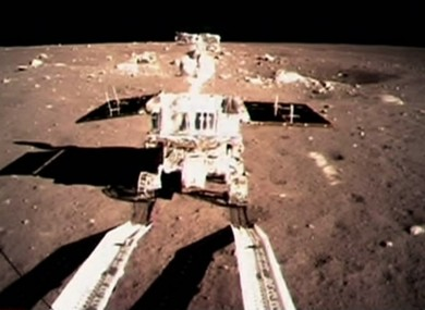 A photo from December 2013 of the Jade Rabbit lunar rover