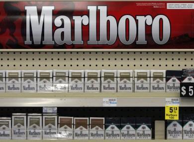 Marlboro cigarettes are on display in a CVS