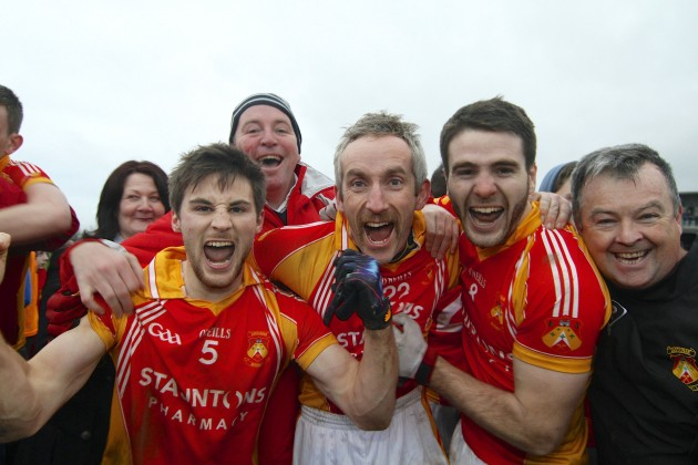 Donal Newcombe, Kevin Filan and Gerard McDonagh celebrate winning